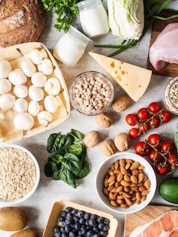 Здоровые сбалансированные ингредиенты.