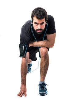 Healthy beard run exercise radio