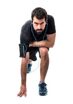 Healthy beard run exercise radio
