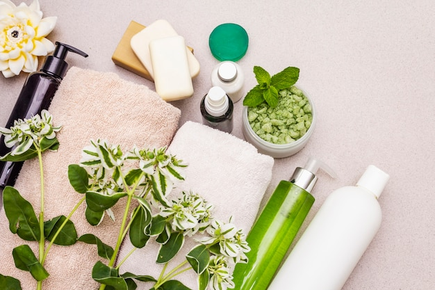 Healthy and beauty spa flower concept