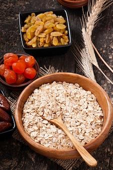 Healthy breakfast - oatmeal and berries