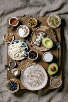 Healthy breakfast variety