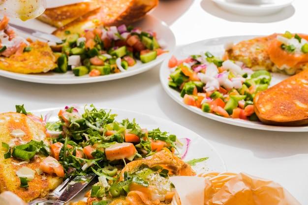 Healthy breakfast with vegetables