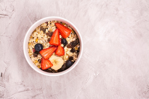 Healthy and delicious breakfast concept