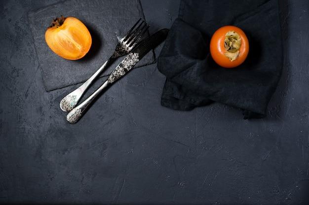 Healthy dessert - persimmon