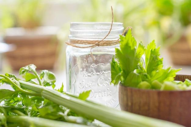 Healthy detox juice with celery