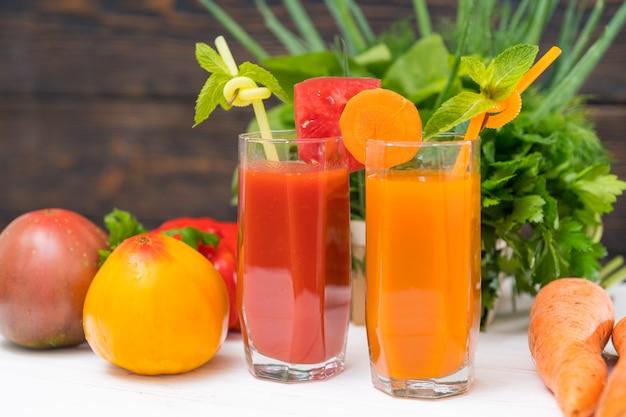 新鮮な食材を使った健康的な食事のコンセプト