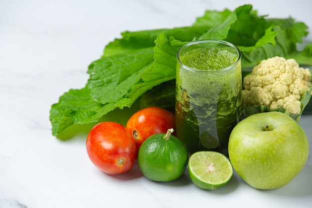 Healthy drink, vegetable smoothie