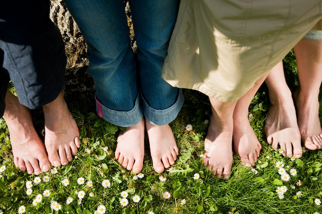 Healthy feet - in a row