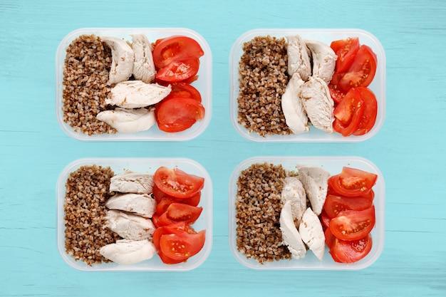 一日中健康的なフィットネス食品