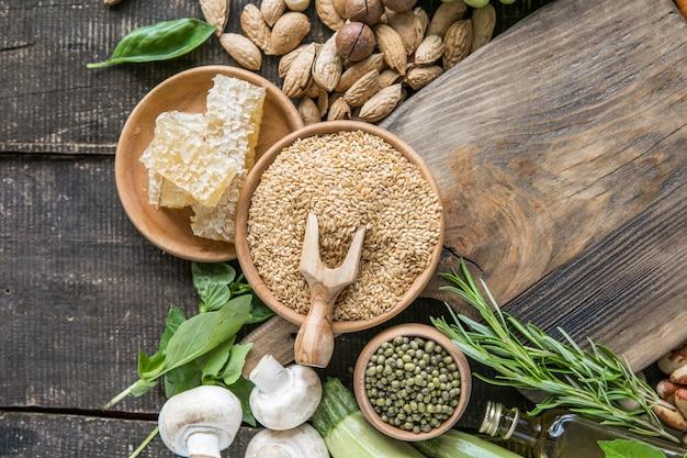 ソースビタミンb1、食物繊維および他の天然ミネラルとしての健康食品