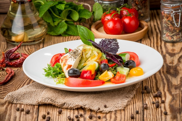 Healthy food beautiful and tasty food on a plate