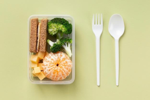 건강 식품 상자 배열