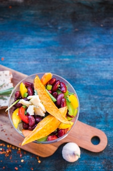 Healthy food composition with colorful vegetables