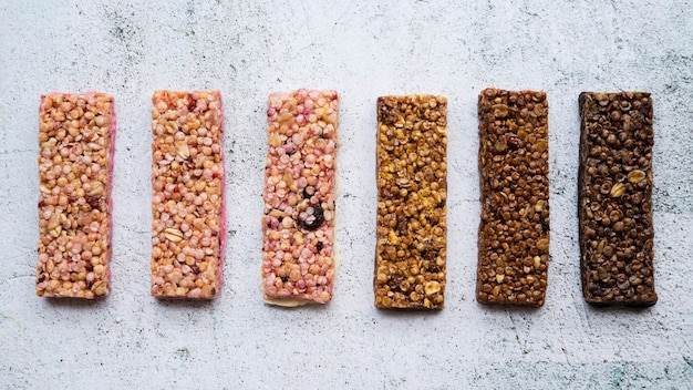 Healthy food composition with protein bars