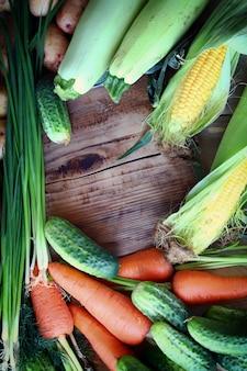 健康食品のコンセプト野菜のセット