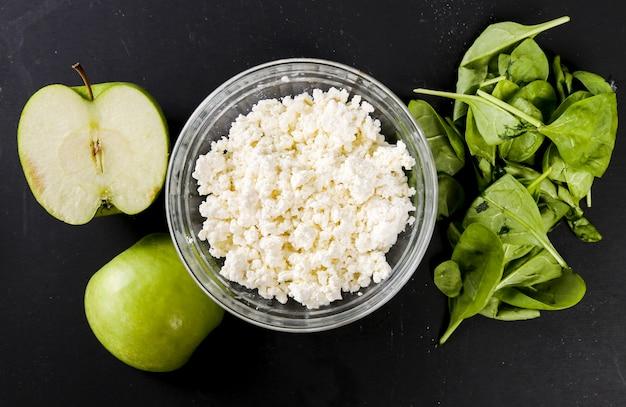 Healthy food on dark