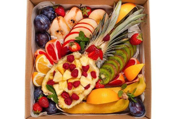健康的な食品の配達。食品の多様性。