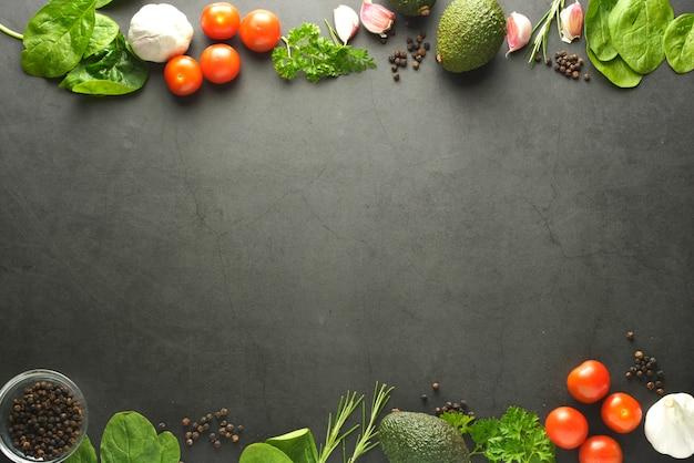 Healthy food frame  background