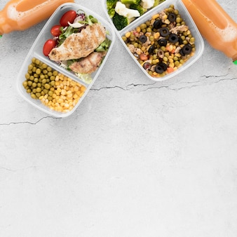 Healthy food frame with copy-space
