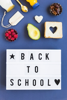 Healthy food near back to school poster