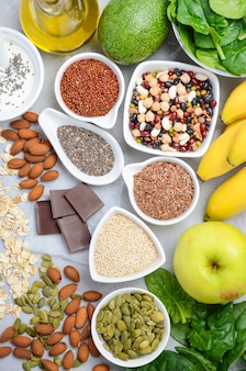 Healthy food nutrition dieting concept.