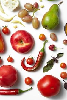 건강식 테이블, 다른 과일과 채소