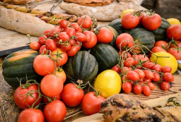 Healthy fresh autumn vegetables