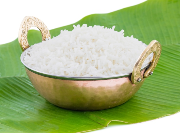 Healthy and fresh cooked rice