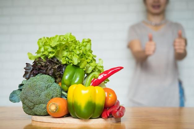 건강한 과일과 채소