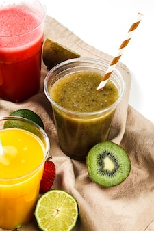 Healthy fruits smoothie