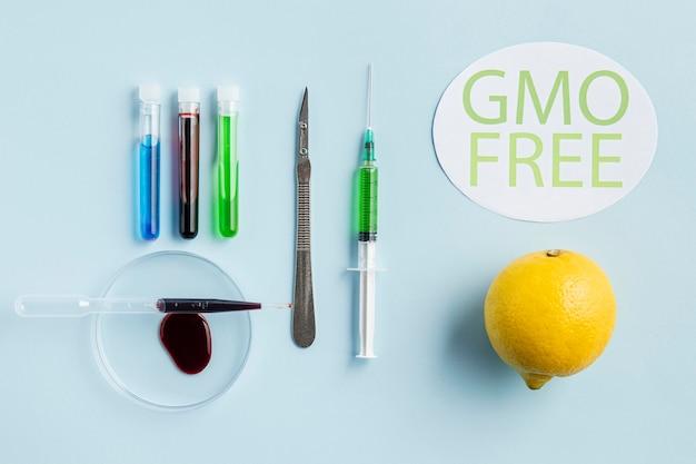 Limone libero geneticamente modificato sano