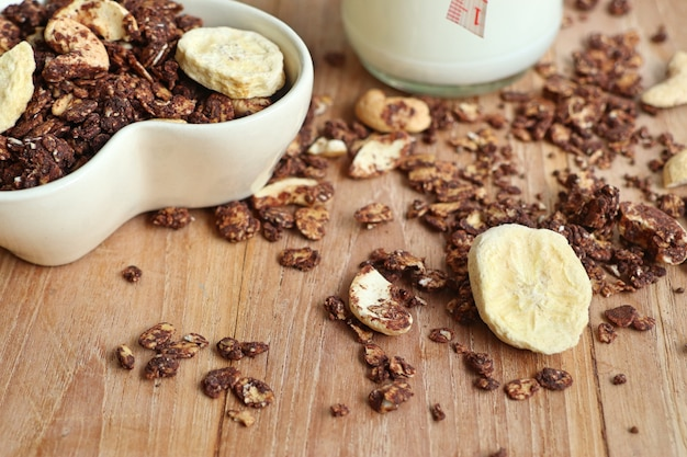 Healthy granola with cashew