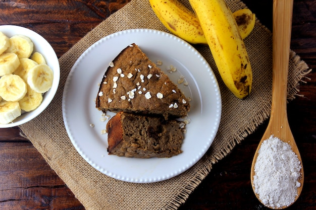 Healthy homemade banana cake