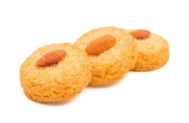 Healthy homemade sweet almond cookies