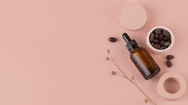 Assortimento di trattamenti all'olio di jojoba sano