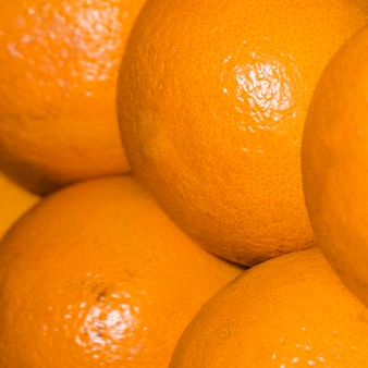 Healthy and juicy oranges for sale on market