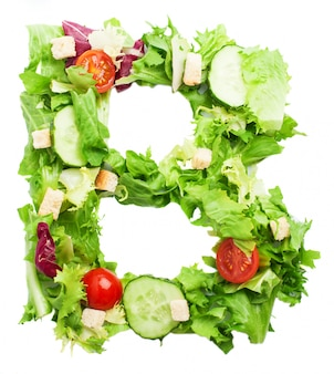 Healthy letter b