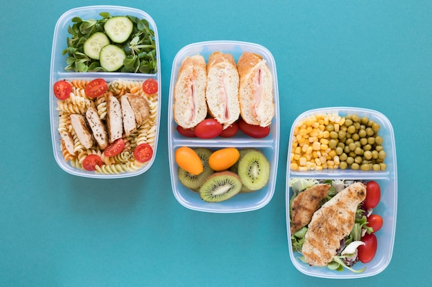 Healthy meal food assortment