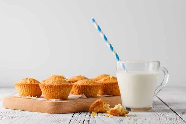 Healthy muffins made of coconut flour and lemon