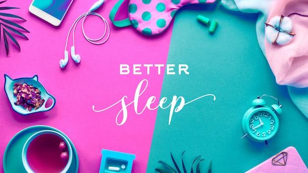 Здоровый ночной сон творческая концепция.