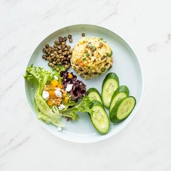 Pranzo sano con risotto alla zucca