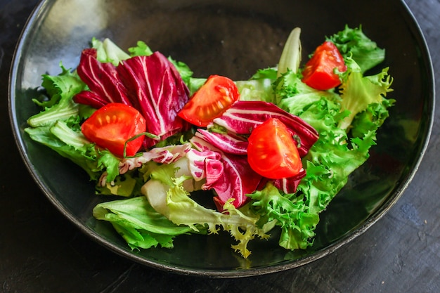 Healthy salad leaves mix