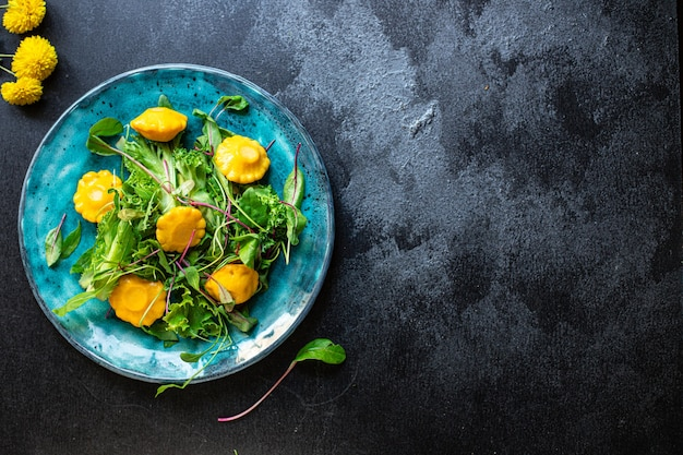 ヘルシーサラダスカッシュとレタス野菜の材料セット