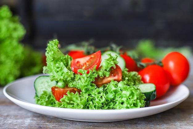 Healthy salad vegetables leaves mix