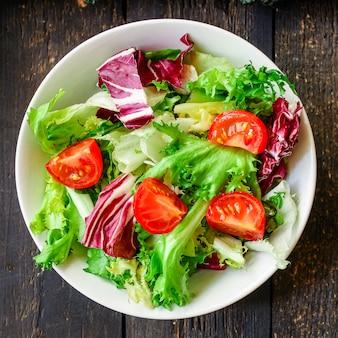 Healthy salad vegetables leaves