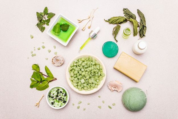 Healthy self-care. minimalist organic lifestyle. comfort and natural pharmacy
