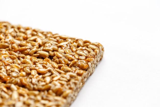 Healthy snacks. fitness diet food. kozinaki fritter, seeds, energy bars.