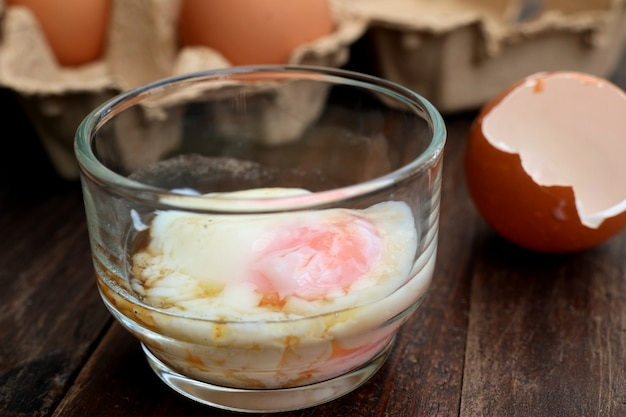 Healthy soft-boiled eggs