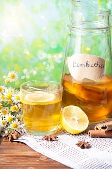 Полезный чай чайный гриб с лимоном и корицей. рецепт домашнего приготовления чайного гриба